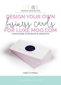 Design Your Own Business Cards With Photoshop And Moo Business