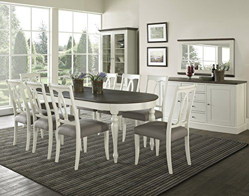 coastlink vegas extension oval dining table set for 8 heritage oval
