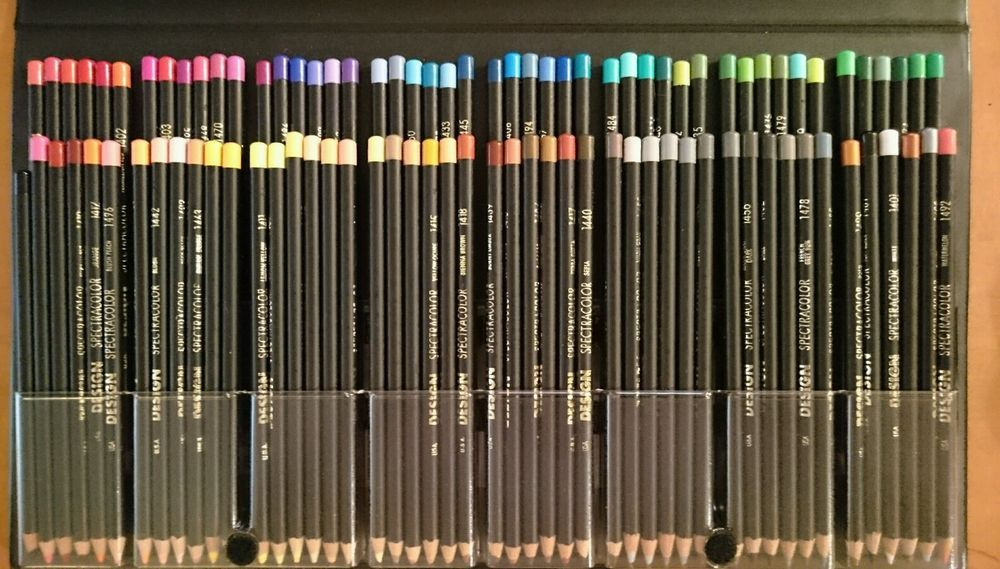 Lot Of 108 Spectracolor Design And Watercolor Pencils Eberhard