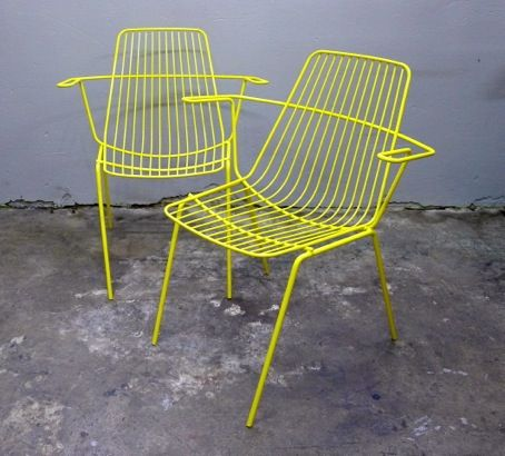 Beautiful Wireware Chairs   Collectika Vintage And Retro Furniture Shop