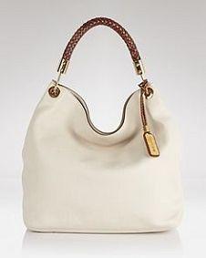 ecb8a8b51814 Dark Sand Leather Slouchy Shoulder Bag by Michael Kors  zulilyfinds