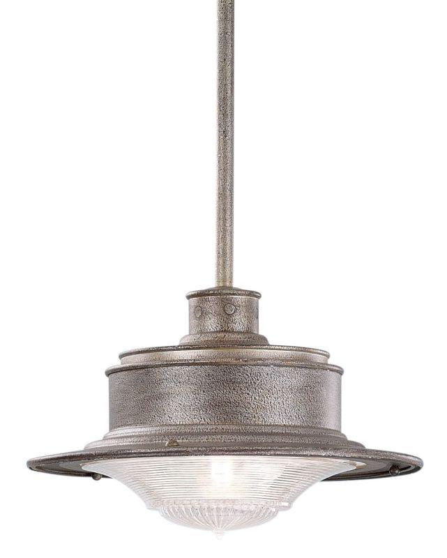 "Troy Lighting F9396 South Street 1 Light 8"" Outdoor Pendant Old Galvanized Outdoor Lighting Pendants"