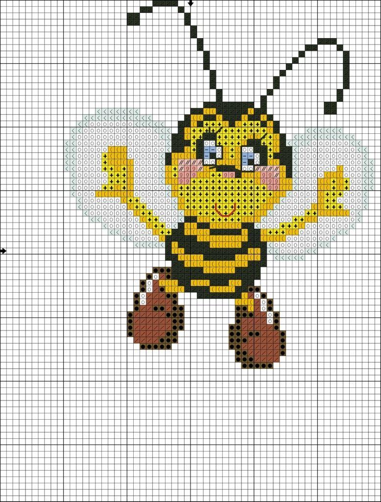 бджілка.jpg | Punto cruz | Pinterest | Abeja, Punto de cruz y Puntos