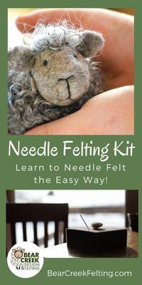 Black Sheep Needle Felting Kit (Easy Beginner) - Bear Creek Felting #feltcreations