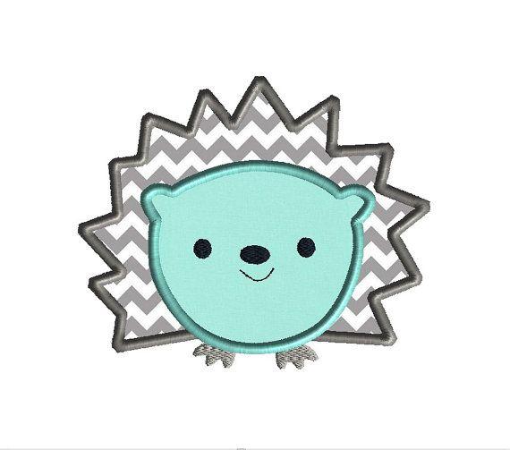 Hedgehog II Applique Machine Embroidery Design-INSTANT DOWNLOAD