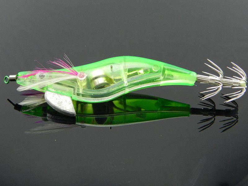 Hot Sale 48pcs/Lot Fishing Squid Light Jigs Lures LED Light Electronic Shrimp Shape Fishing Lure