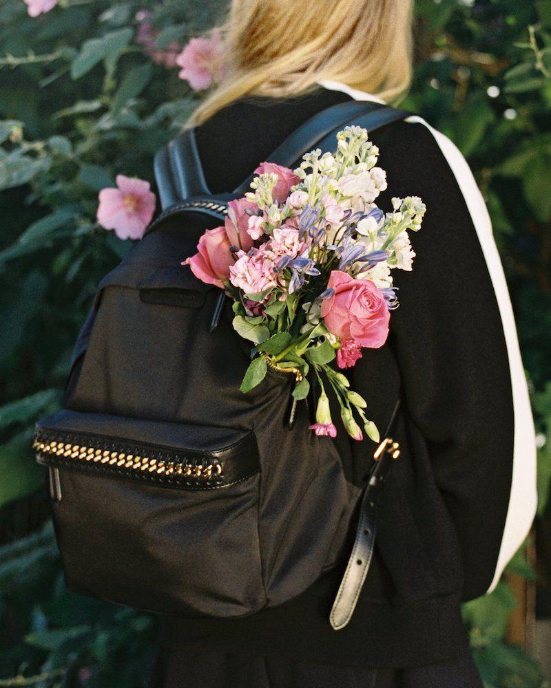 da083ce4e4bd3 Stella McCartney Black Falabella GO Backpack   Favor Style Women ...