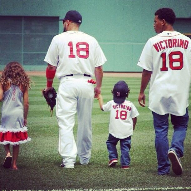 Boston Red Sox Shane Victorino On Family Day With Children Photo Taken By Ms