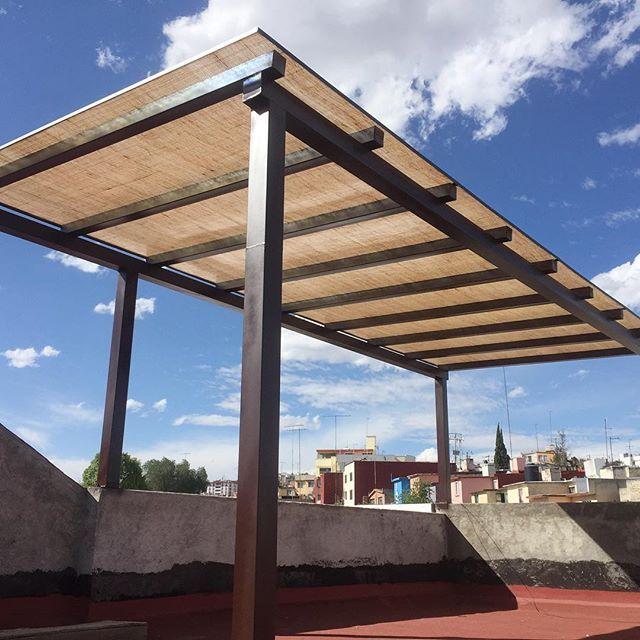 P rgola lamina de henequen henequen pergola roofgarden techo acrolitemx desing - Laminas de techo ...