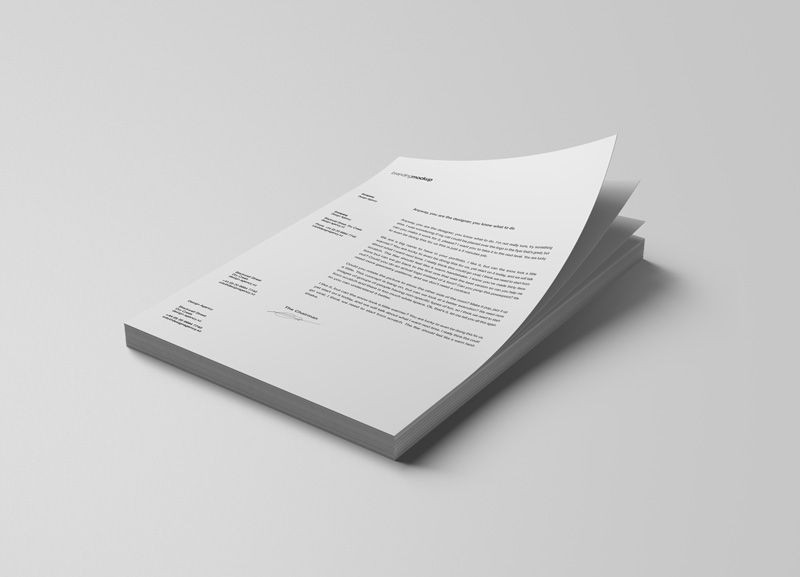 Stacked Letterheads Psd Mockup For Showcasing A Stack Of Letterheads Design Paper Mockup Letterhead Free Mockup