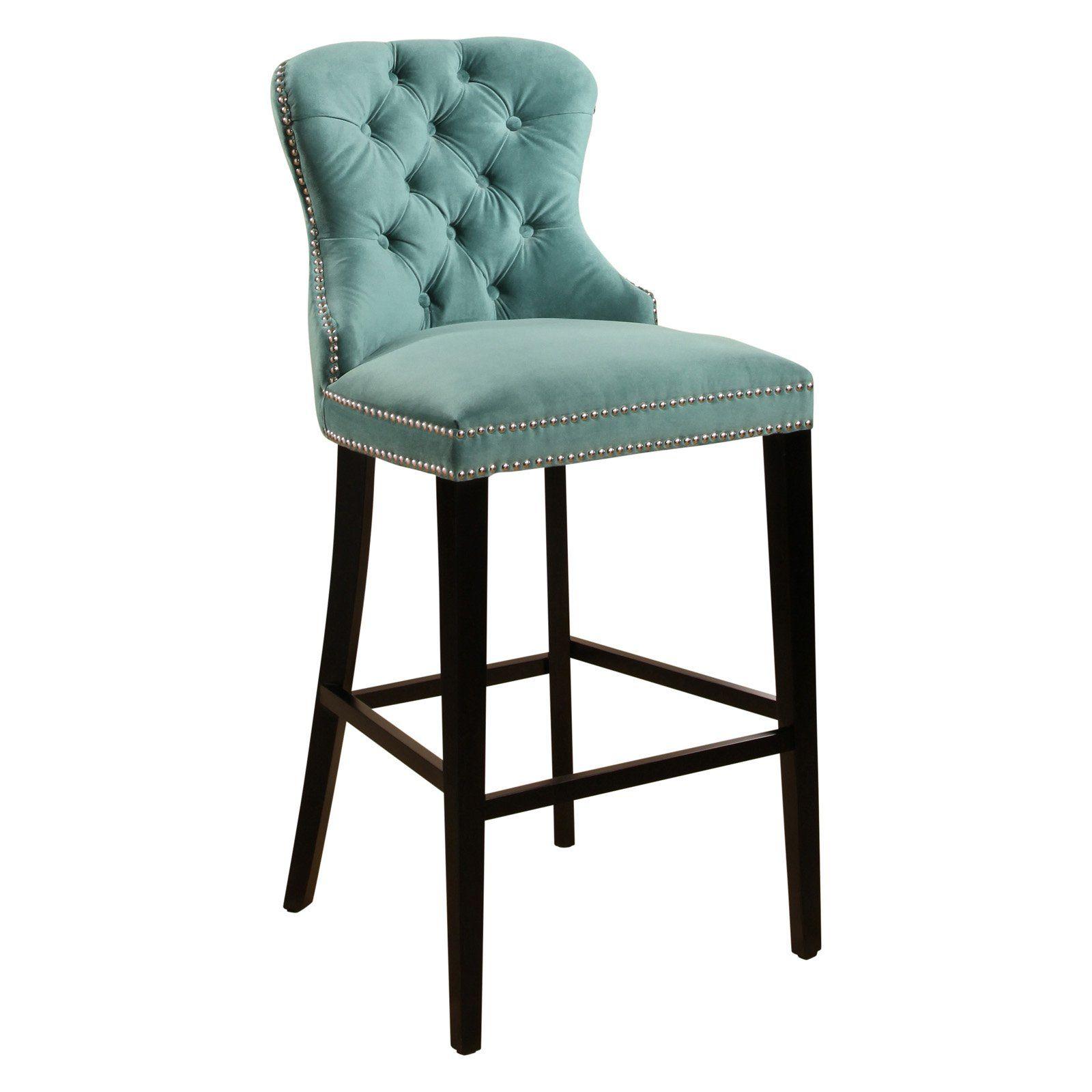 Marvelous Abbyson Harper Tufted Velvet Bar Stool In 2019 Products Ncnpc Chair Design For Home Ncnpcorg