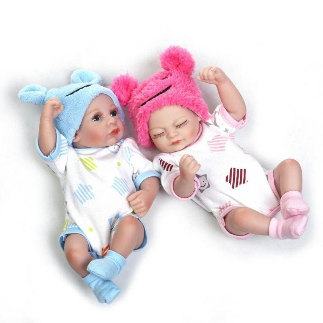 "10/"" Reborn Baby Doll Realistic Silicone Reborn Girl Baby Lifelike Dolls Hot Sale"