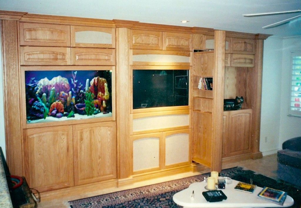 Aquarium Entertainment Center Custom Built Centers