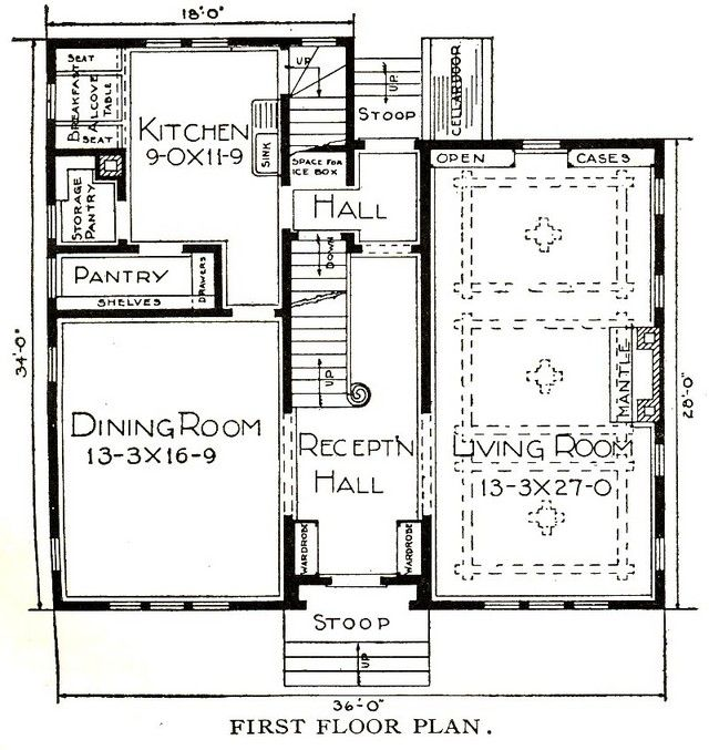 Colonial Dining Rooms Center Hall Colonial Kitchen Room: Modifying A Sears Kit Home Floor Plan