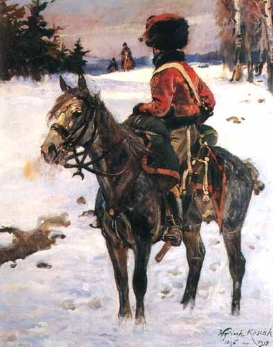 """""""Hussar of the Great Army"""", 1907, oil on canvas, 169.5 x 135 cm, private collection"""