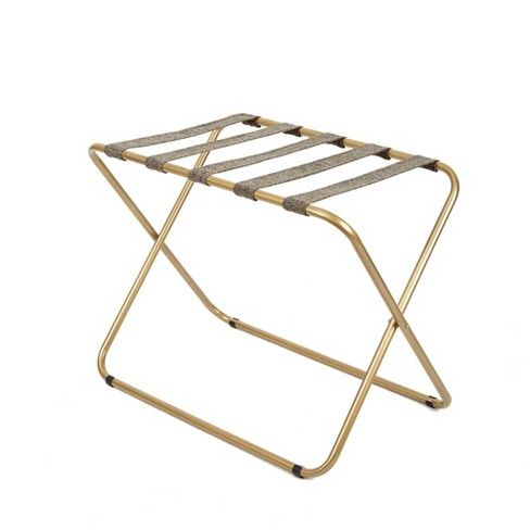 Luggage Rack Target Alluring Rhys Metal Luggage Rack In Gold  Silverwood  Luggage Rack Target Inspiration Design