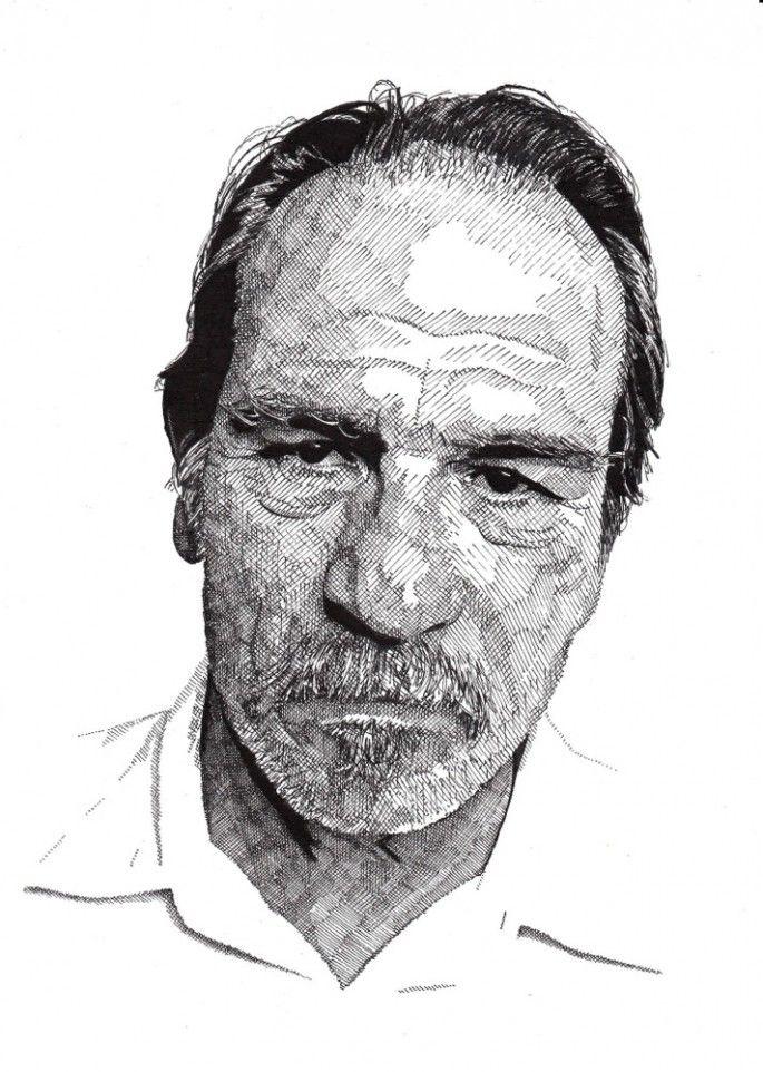 Famous Expressive Line Art : Rik reimert s drawings of famous actors sketches