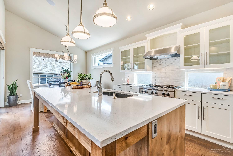 Gorgeous farmhouse-chic, white kitchen in Bend, Oregon # ...