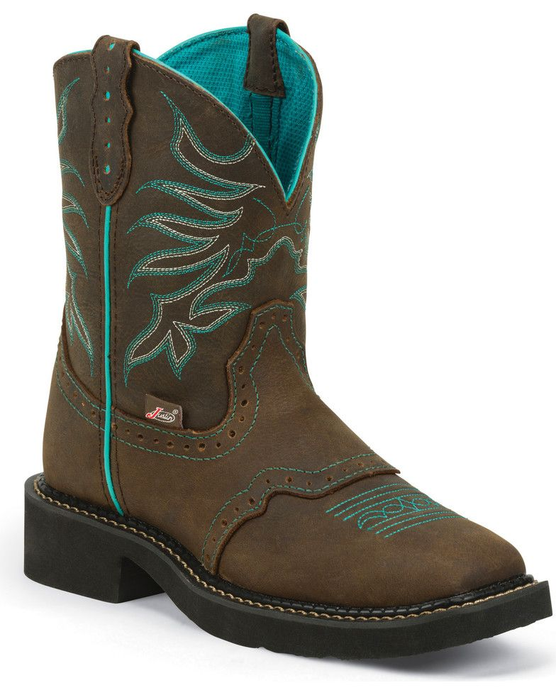 cf086f6eefd Justin Gypsy Women's Mandra Chocolate Cowgirl Boots - Square Toe in ...
