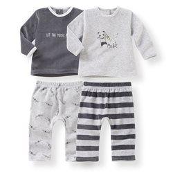 Pyjama 2 pièces velours 0 mois-3 ans (lot de 2) R mini - Bébé ... a13ce2c87a8