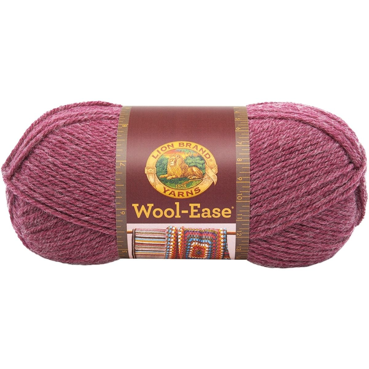 Lion Brand Wool-Ease Yarn -Dark Rose Heather - dark rose heather