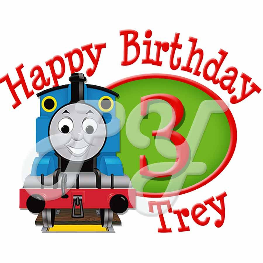 Thomas the Train Personalized Birthday t shirt Personalized