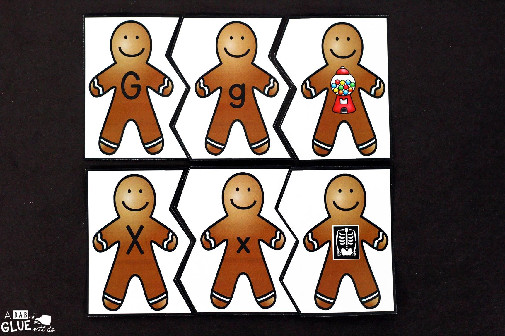 Initial Sound Gingerbread Puzzles