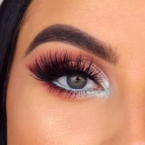 Photo of PINK SHIMMERY GLAM & MINT EYE LOOK TUTORIAL IDEA