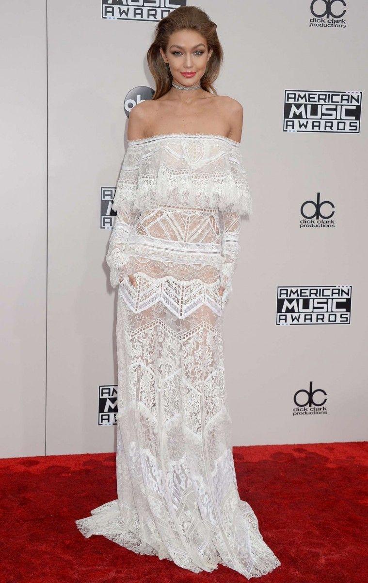 American Music Awards Gigi Hadid Nice Dresses Gigi Hadid Roberto Cavalli Dress [ 1200 x 759 Pixel ]