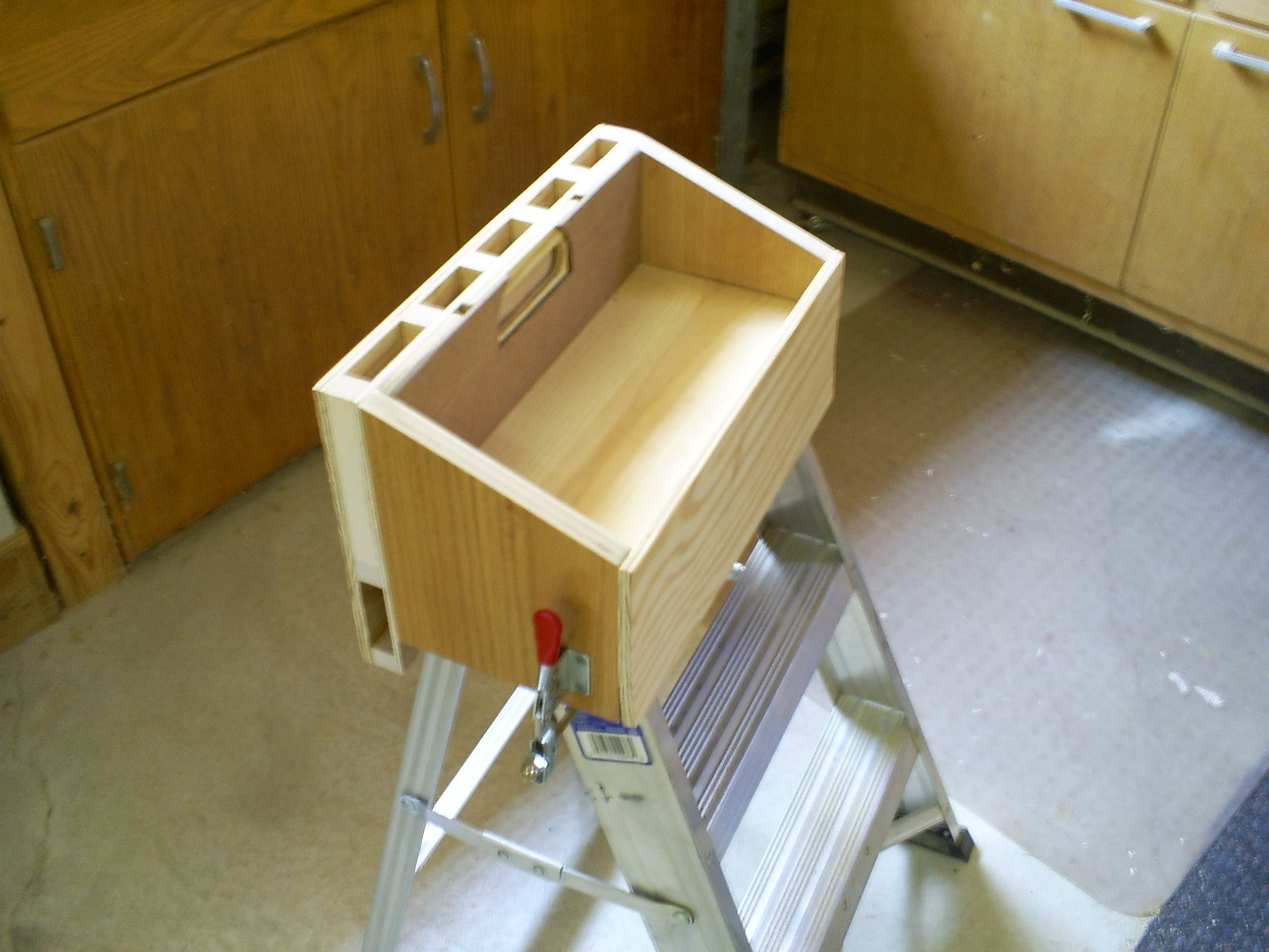 ladder top tool caddy | diy | woodworking power tools, diy