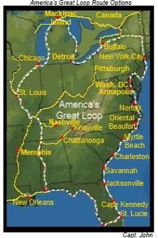 Your Great Loop Boat Requirements And Restrictions Boat Trips Best American Road Trips Sailboat Cruises