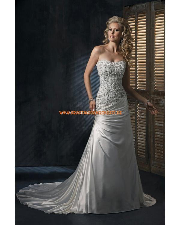 Frankfurt Brautkleid aus Satin ALinie online kaufen  Kleider