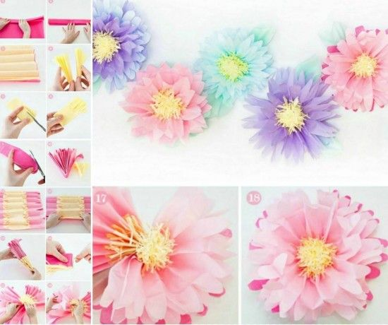 Giant tissue paper flowers video instructions tissue paper flowers how to make beautiful crepe tissue paper flowers the whoot mightylinksfo