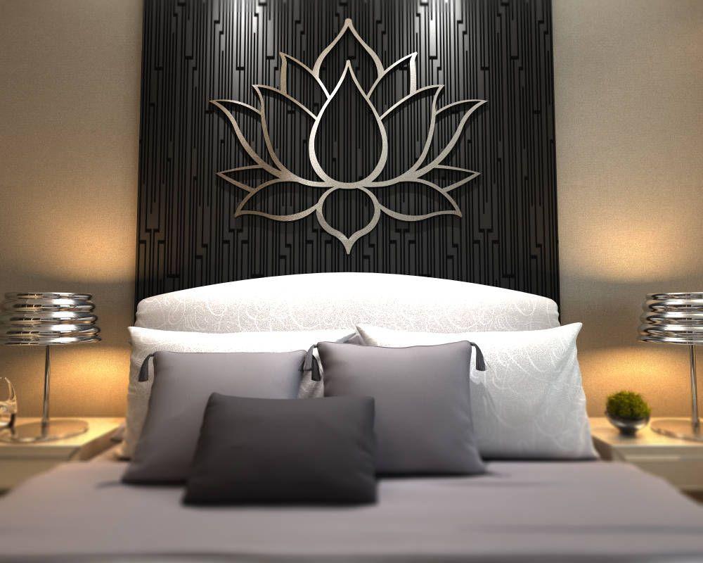 XL Lotus Flower Metal Wall Art, Contemporary Sculpture