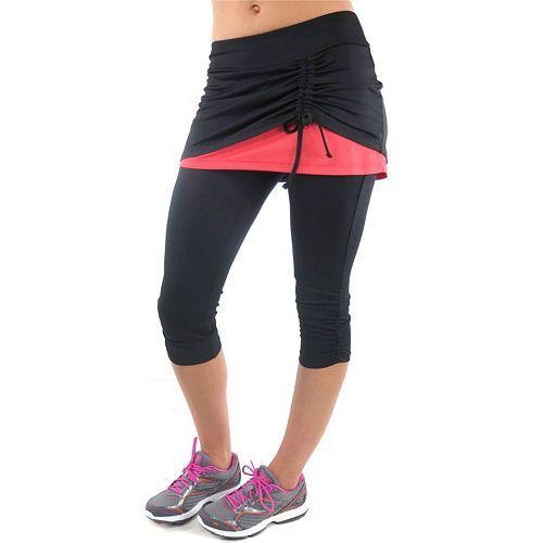 plus size ryka excel skirted capri workout leggings   plus size
