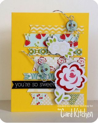 You're So Sweet card by Kimber McGray for the Card Kitchen Kit Club using the July 2014 kit