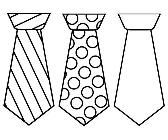 9 Printable Tie Templates Doc Pdf Fathers Day Art Father S