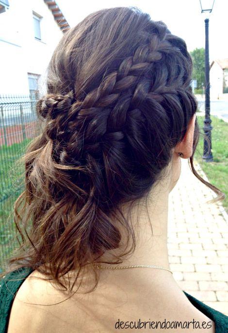 Peinados medio recogido con trenzas