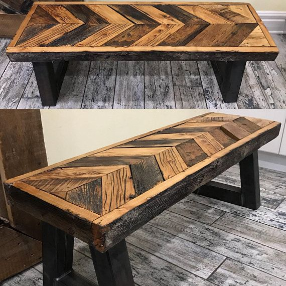 Incredible 32 Rustic Reclaimed Barn Wood And Steel Chevron Entryway Machost Co Dining Chair Design Ideas Machostcouk