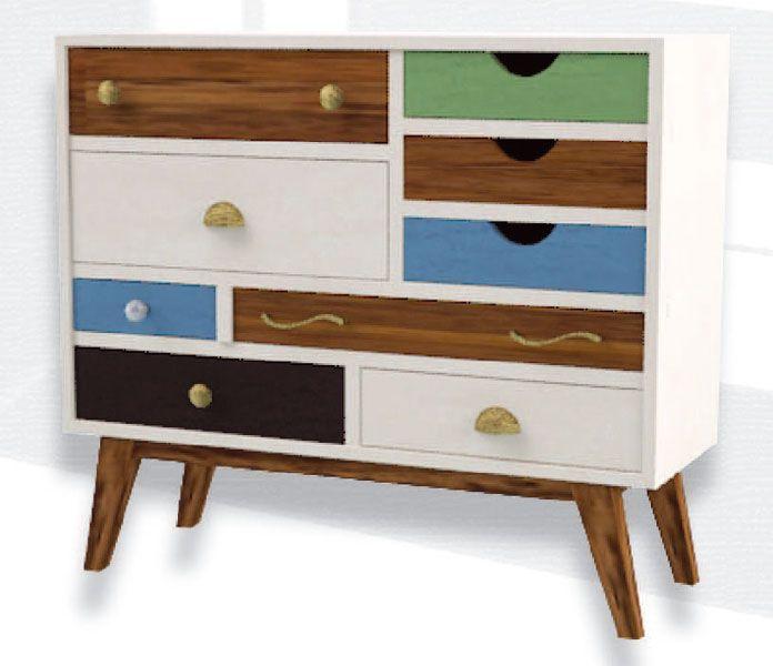 Consola recibidor blanca cajones color captive ii mueble for Zapatero mueble easy