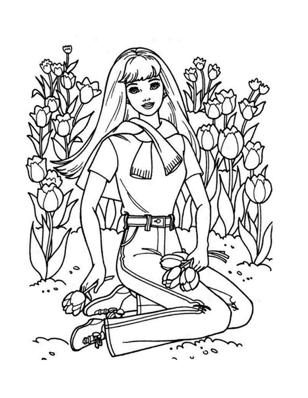 Coloring page Princess Barbie Disney Princess Coloring