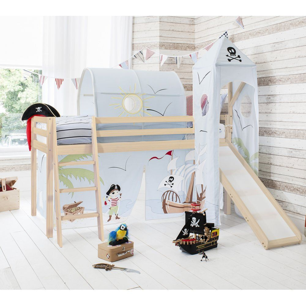 Pirate Pete Cabin Bed with Slide Tent Tower u0026 Tunnel | Noa u0026 Nani  sc 1 st  Pinterest & Pirate Pete Cabin Bed with Slide Tent Tower u0026 Tunnel | Noa ...