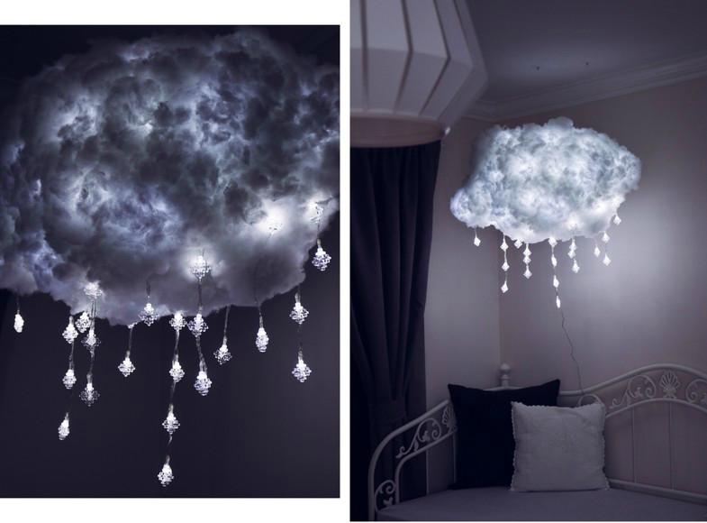 Wolken Leuchte Wolkenlampe selber machen | Wolkenlampe, Diy