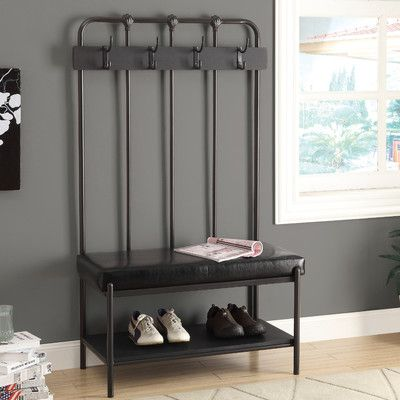 Found it at Wayfair - Metal Hall Tree with Bench | Zapatero mueble ...