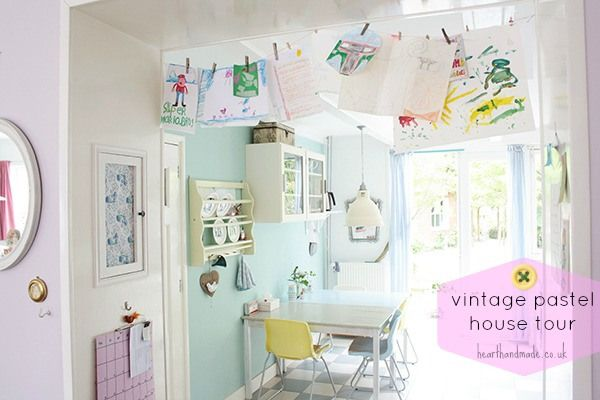Vintage Pastel House Tour - Heart Handmade uk | Favorite Places and ...