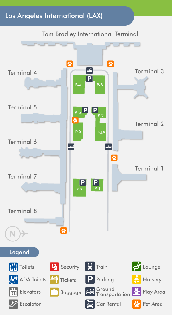 Lax Terminal Map Los Angeles Airport Airport Design Map