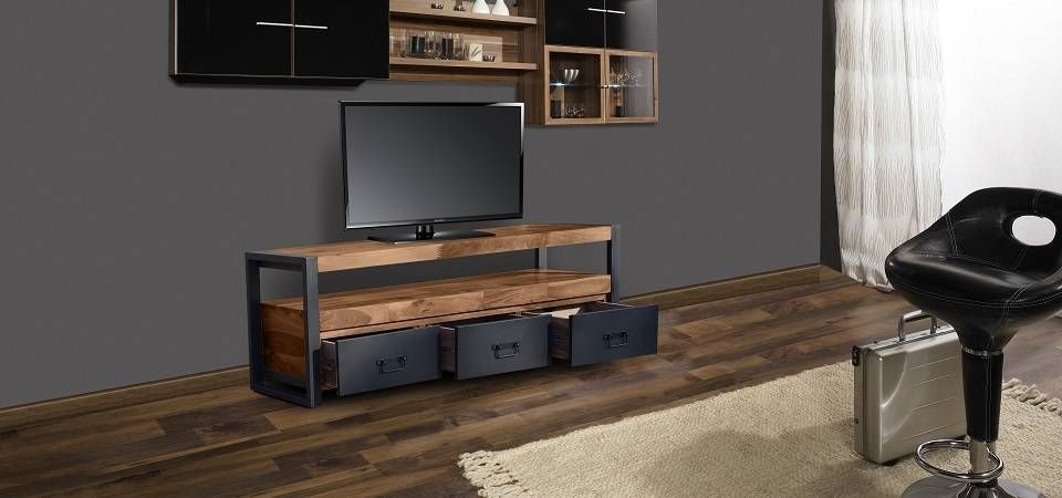 Loft design Tv Stands by OBUZI #Mediacenter #Entertainmentcenter #Sustainable #Furniture #Ecoliving #Interiors #Cool #Rustic #Industrial