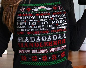 Friends Tv Show Christmas Sweater Monica Monica Have A Happy