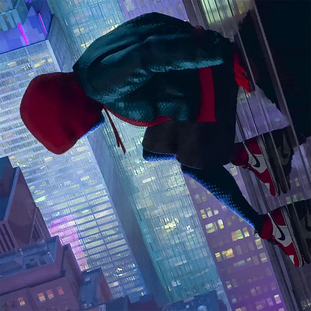 Miles Morales Is Wearing The Chicago Air Jordan 1 Miles Morales