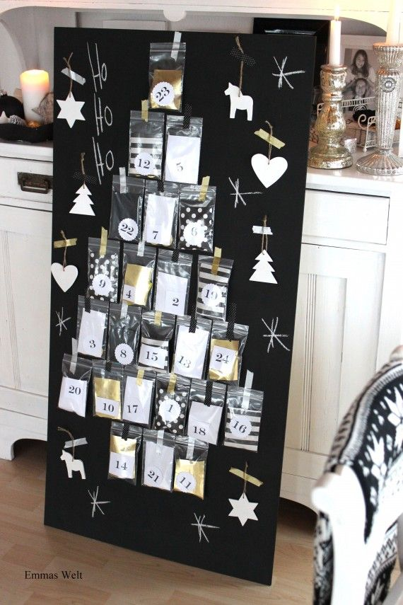weihnachten deko selbstgemacht adventskalender adventskalender pinterest. Black Bedroom Furniture Sets. Home Design Ideas
